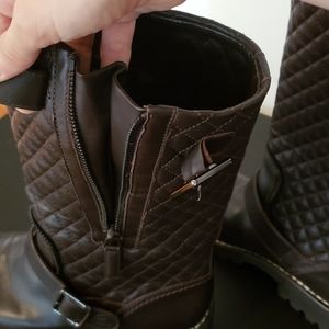 CHANEL Shoes - CHANEL quilted combat boots
